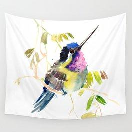Little bird children illustration hummingbird Wall Tapestry