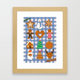 Gingerbread Cookies - Christmas delight Framed Art Print