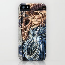 Fisherman's Ready - Maine Harbor iPhone Case