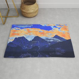 Faith - Hope - Charity - The Three Sisters Mountains, Canmore, AB, Canada Rug