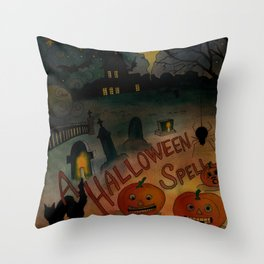 A Halloween Spell Throw Pillow