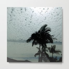 Salmon Palms Metal Print