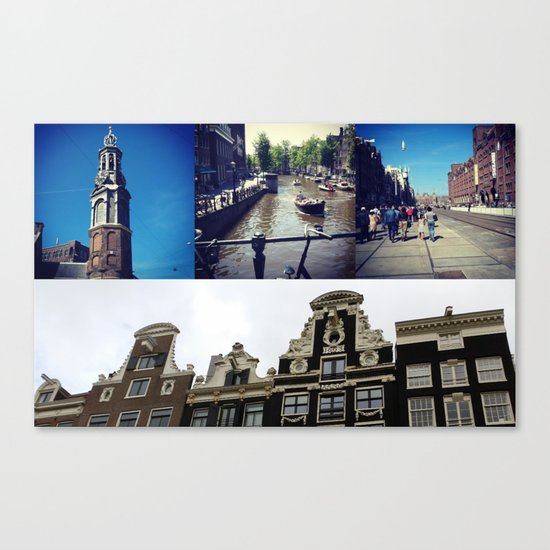 Photo collage Amsterdam 2 Canvas Print