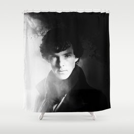 AMAZING SHERLOCK - BLACK & WHITE Shower Curtain