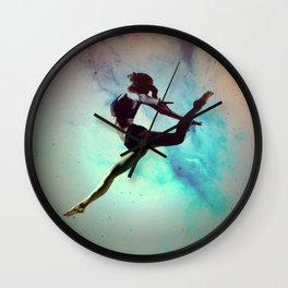 Ballet Dancer Feat Lady Dreams Abstract Art Wall Clock