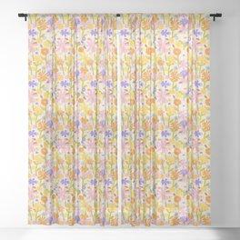 Flower Power Light Sheer Curtain