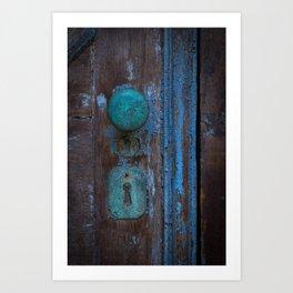 Rusted Door Art Print