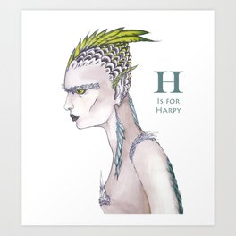 H is for Harpy Art Print