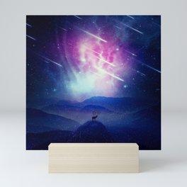 Majestic Cosmic Guardian Mini Art Print