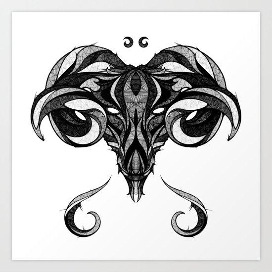 Signs of the Zodiac - Aries Art Print