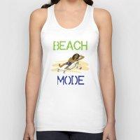 depeche mode Tank Tops featuring Beach Mode by Shimeez