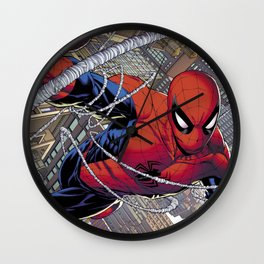 Hero Spider man Wall Clock
