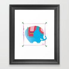 Blue elephant Framed Art Print