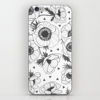 oana befort iPhone & iPod Skins featuring Anemone by Oana Befort