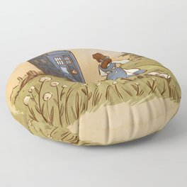 Adventure in the Great Wide Somewhere Floor Pillow