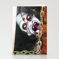 evil dead Stationery Cards featuring The Evil Dead  by Christopher Chouinard