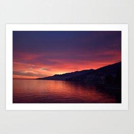 Sunset at Opatija Art Print