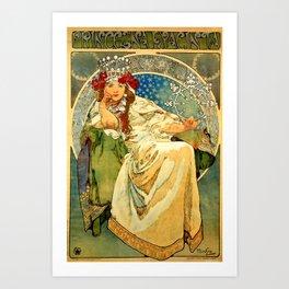 """Alphonse Mucha  """"Princess Hyacinth"""" Kunstdrucke"""
