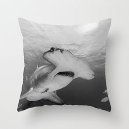 Greatness in Black & White Throw Pillow