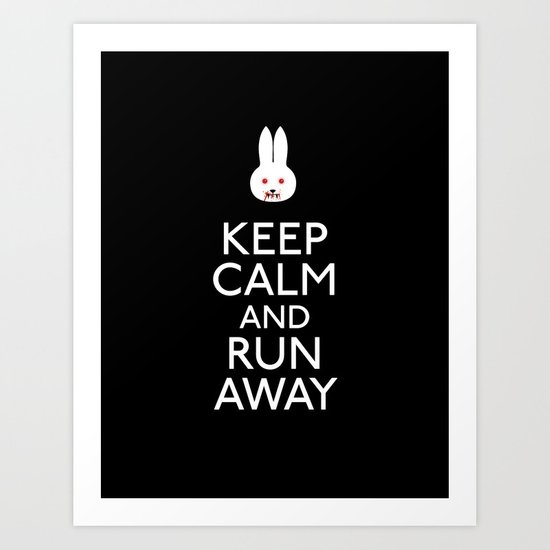 Run away Art Print