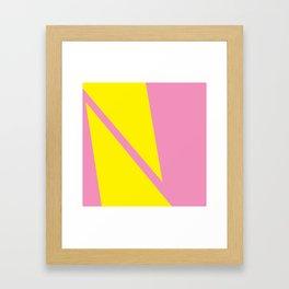 Pink Angles Framed Art Print