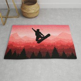 Snowboard Skyline I Rug