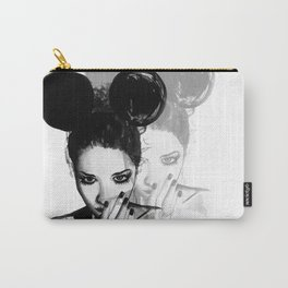 Watercolour Fashion Illustration Little Mouse Carry-All Pouch
