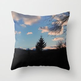 UNIQUE IN THE FOREST Throw Pillow