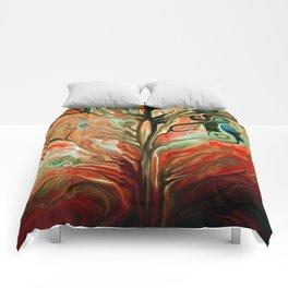 Surreal tree Comforters