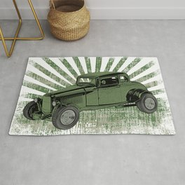 1932 Ford Coupe Hot Rod with Sunburst Rug