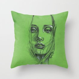 Study of a Girl 2 Throw Pillow