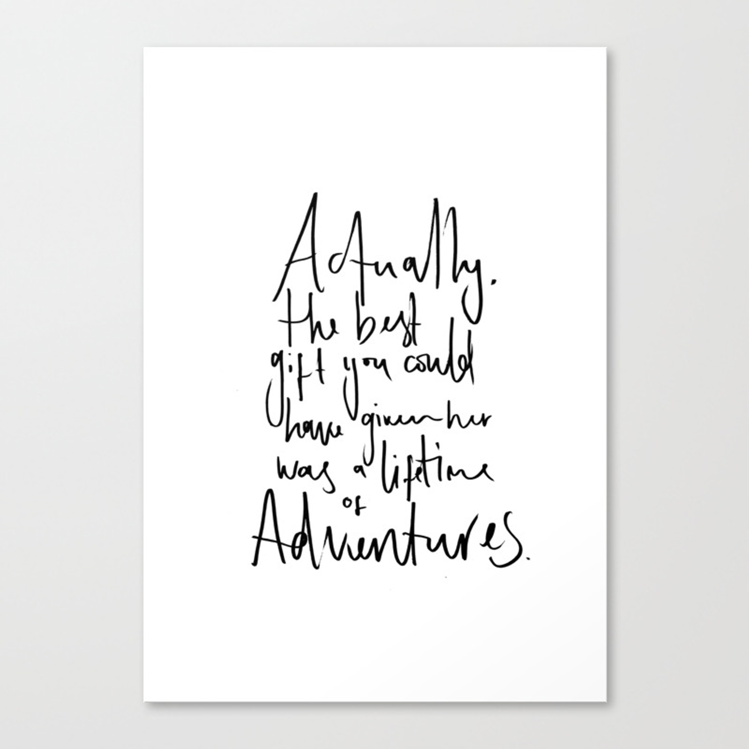 Adventure Quote Alice In Wonderland Canvas Print By Luseaturtledesigns Society6