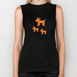 Dogs-Red Biker Tank