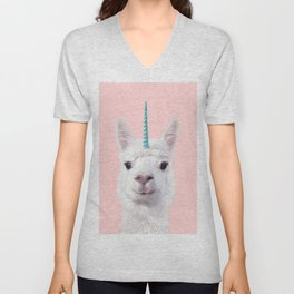 ALPACA UNICORN Unisex V-Neck