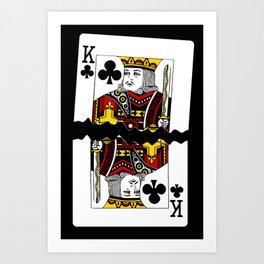 Torn Playing Card Art Print