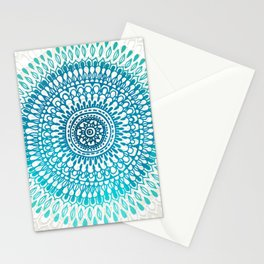 Radiate in Teal + Emerald Stationery Cards
