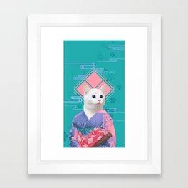 Geisha cat 02 Framed Art Print