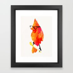Punk bird Framed Art Print