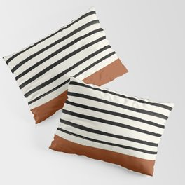 Burnt Orange x Stripes Pillow Sham