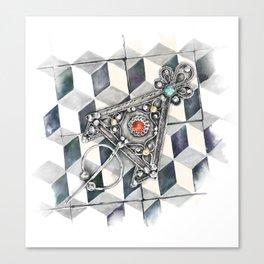 Moroccan Berber fibula Canvas Print