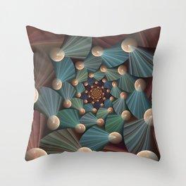Graphic Design, Modern Fractal Art Pattern Throw Pillow