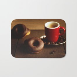 Fresh Donuts for coffee Bath Mat