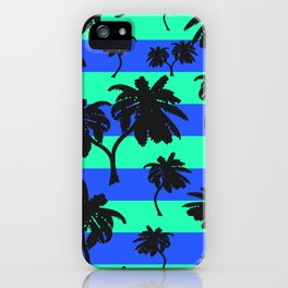 Palms on Stripes 2  iPhone Case
