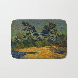 Tom Thomson Byng Inlet Georgian Bay winter 1914-1915 Canadian Landscape Artist Bath Mat