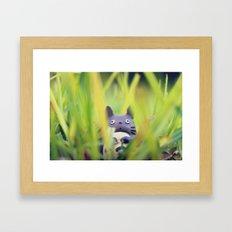 Totoro - Grass Adventure Framed Art Print