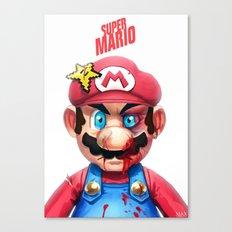 Beat Up Mario Canvas Print
