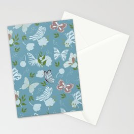 Butterfly Flowers 1 Stationery Cards