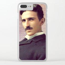 Nikola Tesla, Inventor Clear iPhone Case