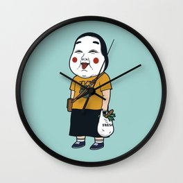 Joyful Girl Wall Clock
