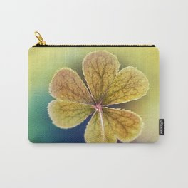 Heart-shaped Clover like Oxalis Macro. St Patrick's Day Carry-All Pouch